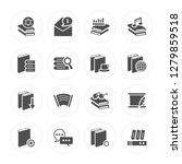 16 book  mail  chat  manuscript ...   Shutterstock .eps vector #1279859518