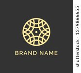 abstract elegant flower logo...   Shutterstock .eps vector #1279866655