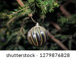 fir branch with balls and... | Shutterstock . vector #1279876828