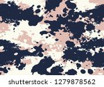 seamless stained camouflage... | Shutterstock .eps vector #1279878562