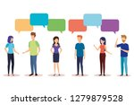 group of people with speech... | Shutterstock .eps vector #1279879528