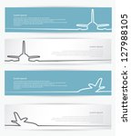 airplane banners   vector... | Shutterstock .eps vector #127988105
