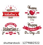 happy valentines day set cards | Shutterstock .eps vector #1279882522