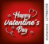 happy valentines day card | Shutterstock .eps vector #1279882558