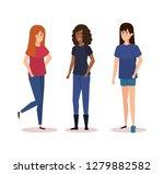 group of girls avatars...   Shutterstock .eps vector #1279882582