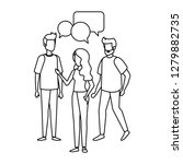 group of people with speech... | Shutterstock .eps vector #1279882735