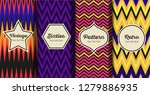 set of seamless striped retro... | Shutterstock .eps vector #1279886935