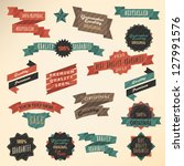 retro label collection | Shutterstock .eps vector #127991576