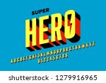 comics style font design ... | Shutterstock .eps vector #1279916965