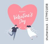 happy valentine's day with... | Shutterstock .eps vector #1279921858