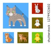 toy animals flat icons in set... | Shutterstock . vector #1279922602