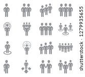 people and crowd icons. gray... | Shutterstock .eps vector #1279935655