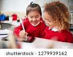 close up of two kindergarten... | Shutterstock . vector #1279939162