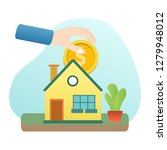 home building investment  save... | Shutterstock .eps vector #1279948012