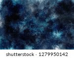 Small photo of abstract dark background cloud image sci-fy space watercolor sky universe texture cosmic galaxy blue black night