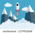 vector illustration of a rocket ... | Shutterstock .eps vector #1279952068