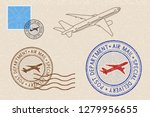 postmarks and postal elements... | Shutterstock . vector #1279956655