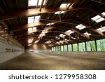 view in an indoor riding hall...   Shutterstock . vector #1279958308