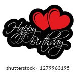 happy birthday with two red... | Shutterstock .eps vector #1279963195