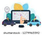 people and auto. making deals... | Shutterstock . vector #1279965592