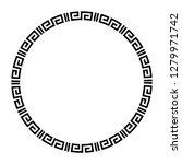 greek key round frame. typical... | Shutterstock .eps vector #1279971742