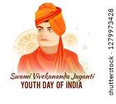 illustration of celebrate swami ... | Shutterstock .eps vector #1279973428