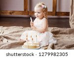 child girl playing with a... | Shutterstock . vector #1279982305