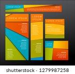 5 most popular banner templates ... | Shutterstock .eps vector #1279987258