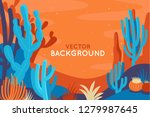 vector abstract illustration in ... | Shutterstock .eps vector #1279987645