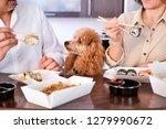 couple enjoy japanese thai meal ... | Shutterstock . vector #1279990672