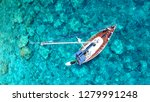 aerial drone photo of luxury... | Shutterstock . vector #1279991248