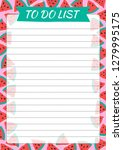 cute to do list with drawn... | Shutterstock .eps vector #1279995175