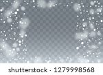 realistic snowflakes background.... | Shutterstock .eps vector #1279998568