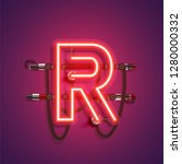 realistic neon character with... | Shutterstock .eps vector #1280000332
