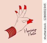 hamsasyo hasta of indian...   Shutterstock .eps vector #1280002345