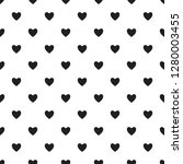 Stock vector heart seamless pattern endless texture black hearts on white background vector illustration 1280003455