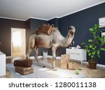 the camel in the room. photo... | Shutterstock . vector #1280011138