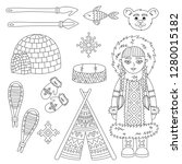 eskimo arctic symbols and...   Shutterstock .eps vector #1280015182