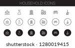 household icons set. collection ... | Shutterstock .eps vector #1280019415