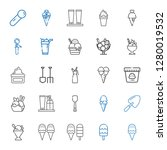 scoop icons set. collection of... | Shutterstock .eps vector #1280019532