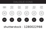 dialogue icons set. collection... | Shutterstock .eps vector #1280022988