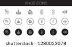 knob icons set. collection of... | Shutterstock .eps vector #1280023078