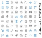 web icons set. collection of... | Shutterstock .eps vector #1280035288