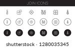 join icons set. collection of... | Shutterstock .eps vector #1280035345