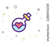 valentine day icon | Shutterstock .eps vector #1280043235