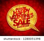 happy valentine's day sale... | Shutterstock .eps vector #1280051398