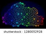 bright spectrum mesh vector map ...   Shutterstock .eps vector #1280052928