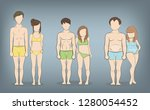 male and female body types ... | Shutterstock .eps vector #1280054452