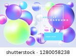bouncing multicolored spheres.... | Shutterstock .eps vector #1280058238