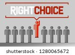 right choice business unique... | Shutterstock . vector #1280065672
